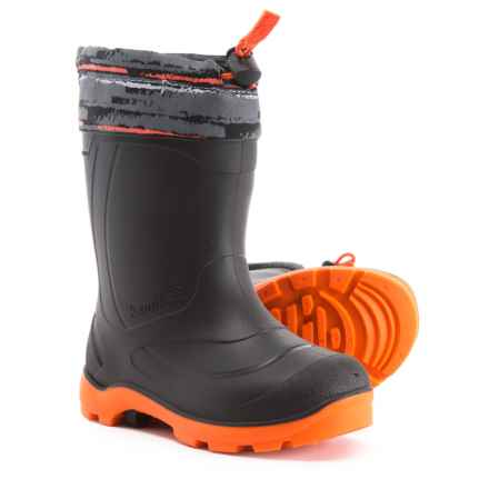 Kamik Snobuster2 Snow Boots - Waterproof, Insulated (For Boys) in Charcoal/Orange - Closeouts