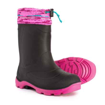 Kamik Snobuster2 Snow Boots - Waterproof, Insulated (For Girls) in Charcoal/Magenta - Closeouts