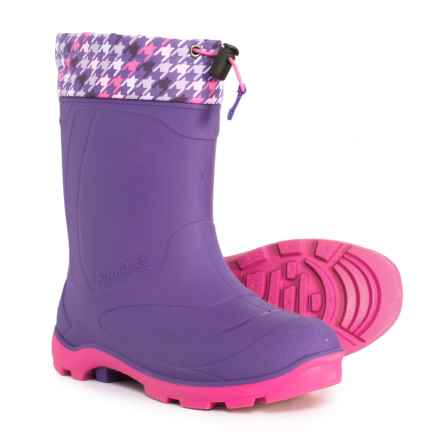Kamik Snobuster2 Snow Boots - Waterproof, Insulated (For Girls) in Purple/Pink - Closeouts