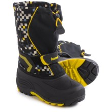 Kamik Snowbank 2 Pac Boots - Waterproof (For Little and Big Kids) in Black - Closeouts