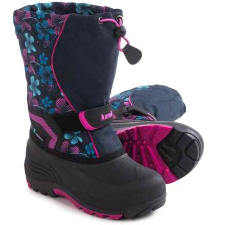 Kamik Snowbank 2 Pac Boots - Waterproof (For Little and Big Kids) in Navy/Magenta - Closeouts