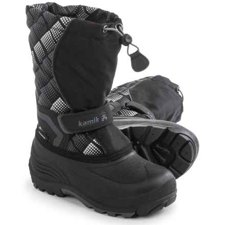 Kamik Snowbank 2 Pac Boots - Waterproof (For Toddlers) in Black/Charcoal - Closeouts