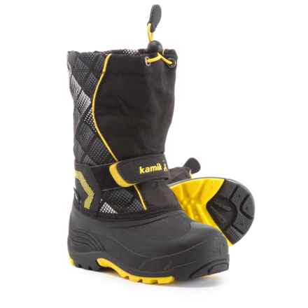 Kamik Snowbank 2 Pac Boots - Waterproof, Insulated (For Boys) in Black/Yellow - Closeouts