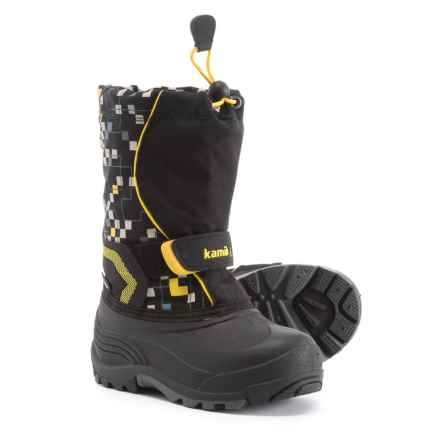 Kamik Snowbank 2 Pac Boots - Waterproof, Insulated (For Boys) in Black - Closeouts