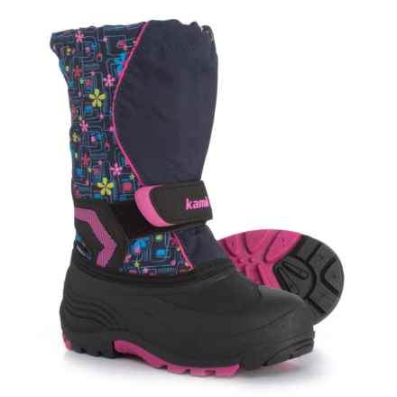 Kamik Snowbank 2 Pac Boots - Waterproof, Insulated (For Girls) in Navy/Pink - Closeouts