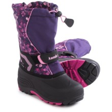 Kamik Snowbank 2 Pac Boots - Waterproof, Multicolored (For Toddlers) in Eggplant/Magenta - Closeouts
