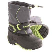 Kamik Snowbank Snow Boots - Waterproof (For Kids) in Charcoal - Closeouts