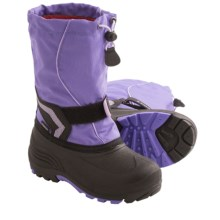 Kamik Snowbank Snow Boots - Waterproof (For Kids) in Lavender - Closeouts