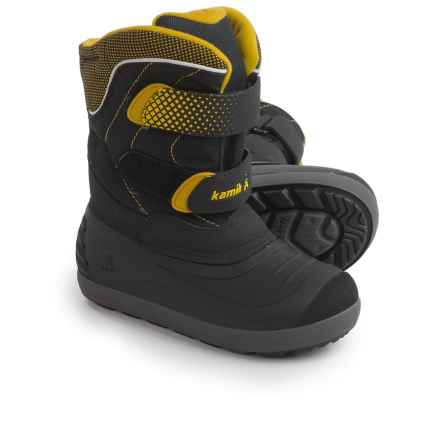 Kamik Snowchase Pac Boots - Waterproof, Insulated (For Little and Big Kids) in Black - Closeouts