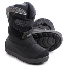 Kamik Snowchase Snow Boots - Waterproof, Insulated (For Little and Big Kids) in Black/Charcoal - Closeouts