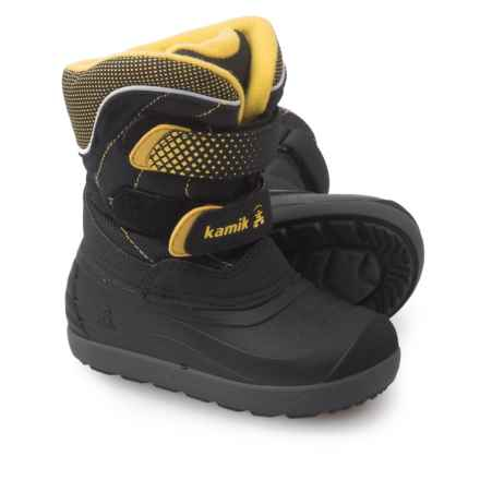 Kamik Snowchase Snow Boots - Waterproof, Insulated (For Toddlers) in Black - Closeouts