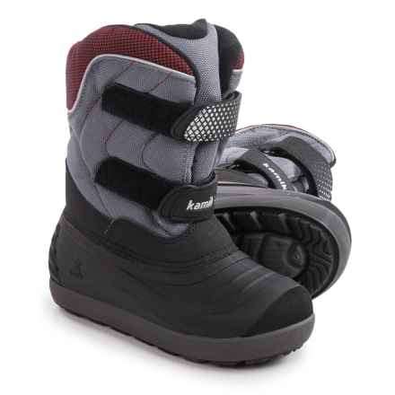 Kamik Snowchase Snow Boots - Waterproof, Insulated (For Toddlers) in Charcoal - Closeouts
