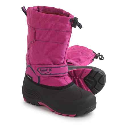 Kamik Snowcoast Pac Boots - Waterproof, Insulated (For Little and Big Kids) in Magenta - Closeouts