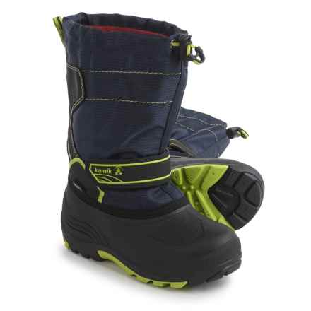 Kamik Snowcoast Pac Boots - Waterproof, Insulated (For Little and Big Kids) in Navy - Closeouts