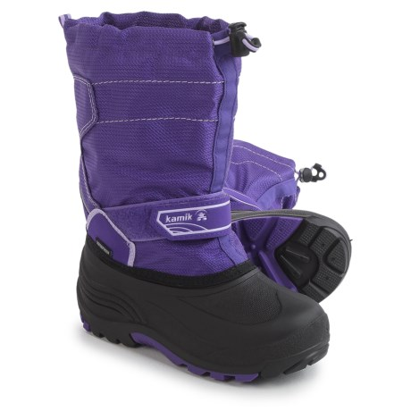 Kamik Snowcoast Pac Boots - Waterproof, Insulated (For Little and Big Kids) in Purple