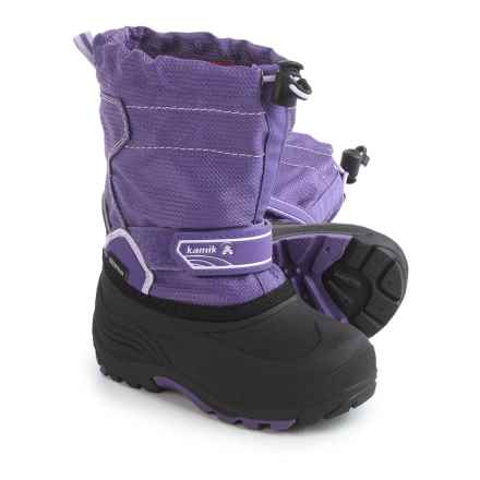Kamik Snowcoast Winter Boots - Waterproof, Insulated (For Toddlers) in Purple - Closeouts
