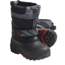 Kamik Snowday Winter Boots (For Little Boys and Girls) in Black - Closeouts