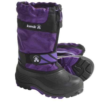 Kamik Snowday Winter Boots (For Little Boys and Girls) in Black
