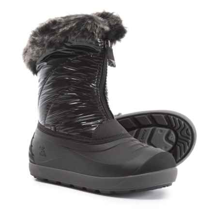 Kamik Snowflare Pac Boots - Waterproof, Insulated (For Girls) in Black - Closeouts