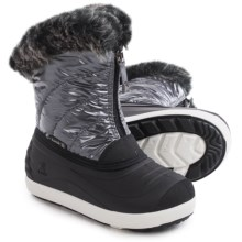 Kamik Snowflare Snow Boots - Waterproof (For Little and Big Girls) in Charcoal - Closeouts