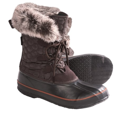 Kamik Snowfling 2 Winter Pac Boots - Insulated (For Women) in Dark Brown