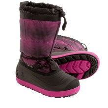 Kamik Snowflurry Snow Boots - Waterproof (For Little Kids) in Magenta - Closeouts