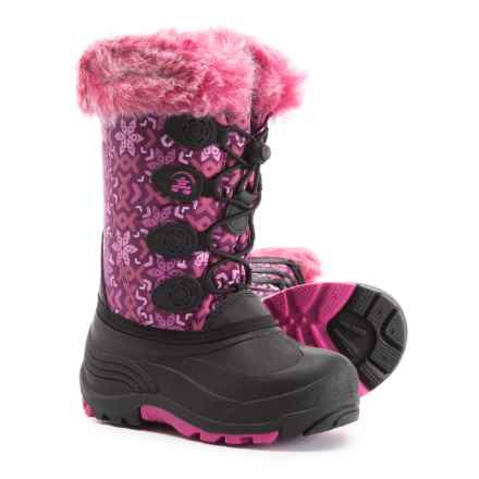Kamik Snowgypsy 2 Pac Boots - Waterproof, Insulated (For Girls) in Plum/Magenta - Closeouts