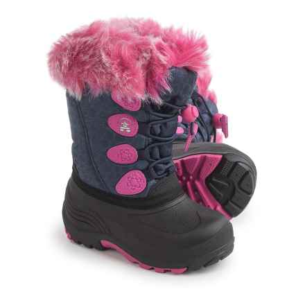 Kamik Snowgypsy Pac Boots - Waterproof, Insulated (For Toddler Girls) in Navy - Closeouts