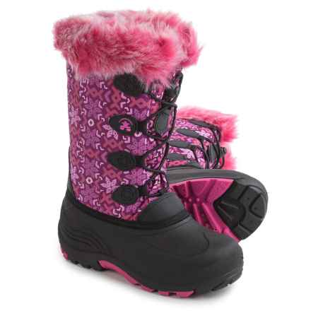 Kamik Snowgypsy2 Pac Boots - Waterproof, Insulated (For Little and Big Girls) in Plum/Magenta - Closeouts