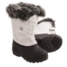 Kamik Snowgyspy Winter Pac Boots (For Little Girls) in White - Closeouts