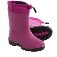 Kamik Snowkey7 Winter Pac Boots - Waterproof, Insulated (For Big Kids) in Berry - Closeouts