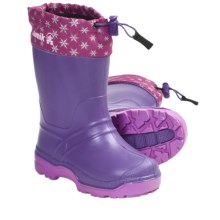 Kamik Snowkone 5 Rubber Rain Boots - Insulated (For Kid Boys and Girls) in Lilac - Closeouts