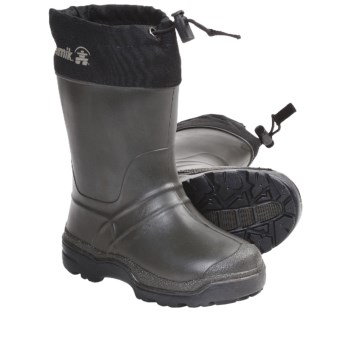 Kamik Snowkone 5 Rubber Rain Boots - Insulated (For Youth Boys and Girls) in Khaki