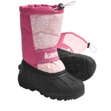 Kamik Snowridge Winter Boots (For Kid and Youth Girls) in Pink - Closeouts