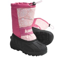 Kamik Snowridge Winter Boots (For Kid and Youth Girls) in Pink