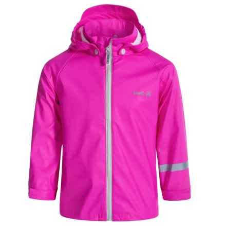 Kamik Solid Rain Jacket (For Little Girls) in Magenta Neon - Closeouts