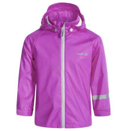 Kamik Solid Rain Jacket (For Little Girls) in Vibrant Viola - Closeouts