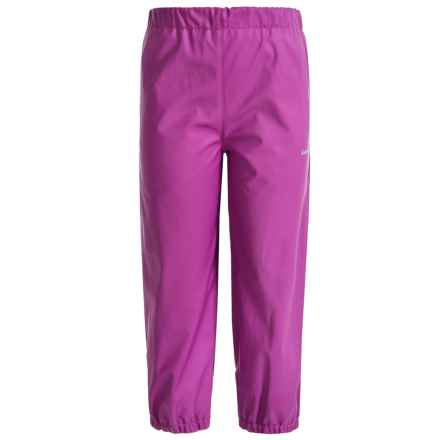 Kamik Solid Rain Pants - Waterproof (For Little Girls) in Vibrant Viola - Closeouts
