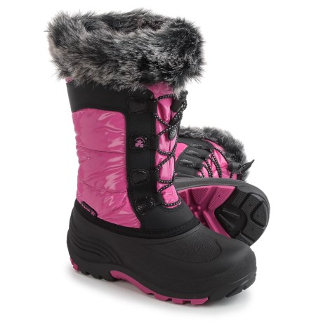 Kamik Solstice Pac Boots - Insulated (For Little and Big Girls) in Magenta
