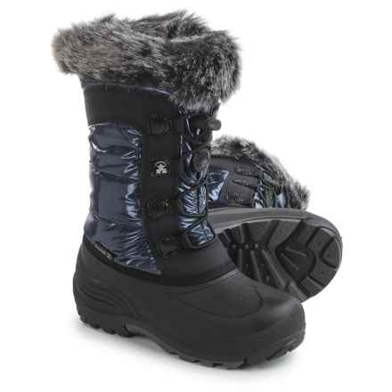 Kamik Solstice Pac Boots - Insulated (For Little and Big Girls) in Navy - Closeouts