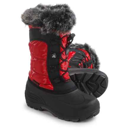Kamik Solstice Pac Boots - Insulated (For Little and Big Girls) in Red - Closeouts