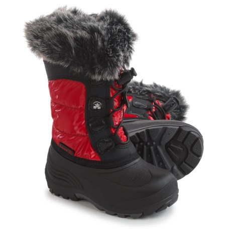 Kamik Solstice Pac Boots - Insulated (For Toddler Girls) in Red