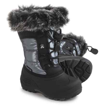 Kamik Solstice Pac Boots - Insulated (For Toddler Girls) in Silver - Closeouts
