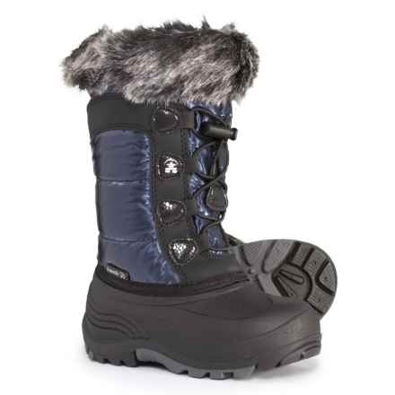 Kamik Solstice Pac Boots - Waterproof, Insulated (For Girls) in Navy - Closeouts