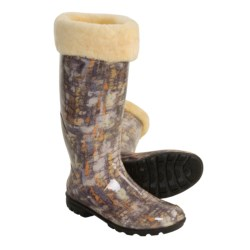 Kamik Sophia Rain Boots - Waterproof, Shearling Lined (For Women) in Brown