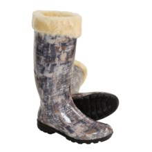 Kamik Sophia Rain Boots - Waterproof, Shearling Lined (For Women) in Grey - Closeouts