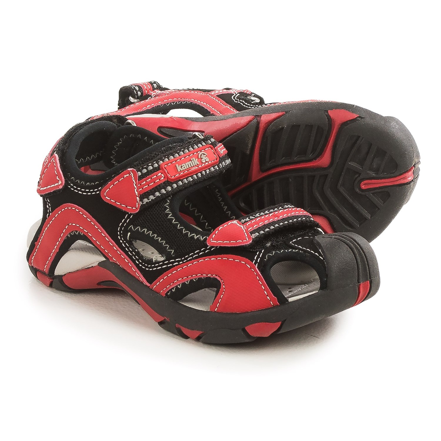 Black sandals for toddler boy - Kamik Squid Sport Sandals For Little And Big Kids In Black Closeouts