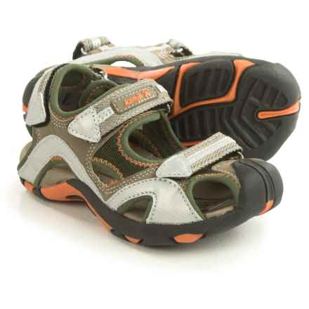 Kamik Squid Sport Sandals (For Little and Big Kids) in Olive - Closeouts