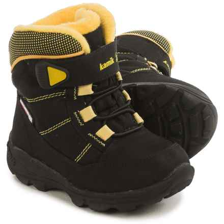 Kamik Stance Snow Boots - Waterproof, Insulated (For Toddlers) in Black - Closeouts