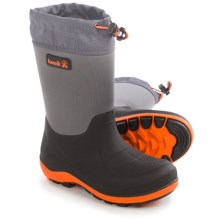 Kamik Stormin' Rain Boots (For Little and Big Kids) in Charcoal - Closeouts